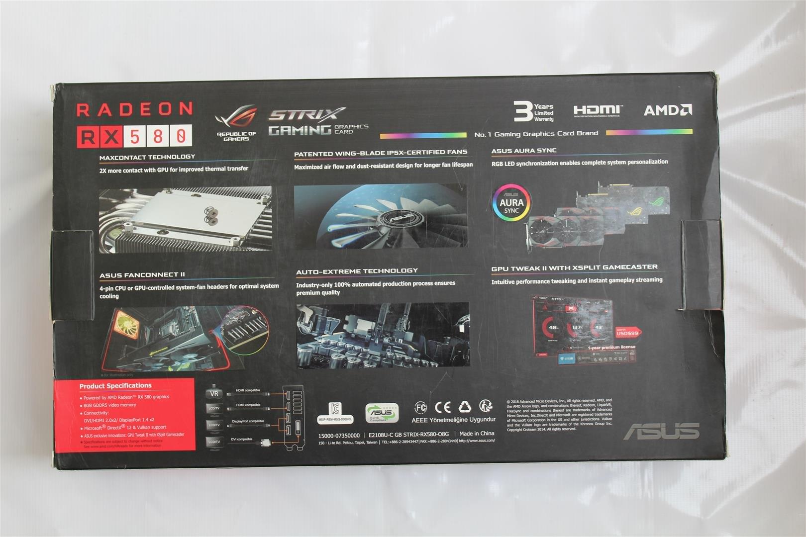 ASUS ROG STRIX RX580 Review - PC TeK REVIEWS