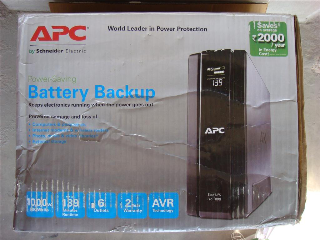 APC Back-UPS Pro 1000VA - PC TeK REVIEWS