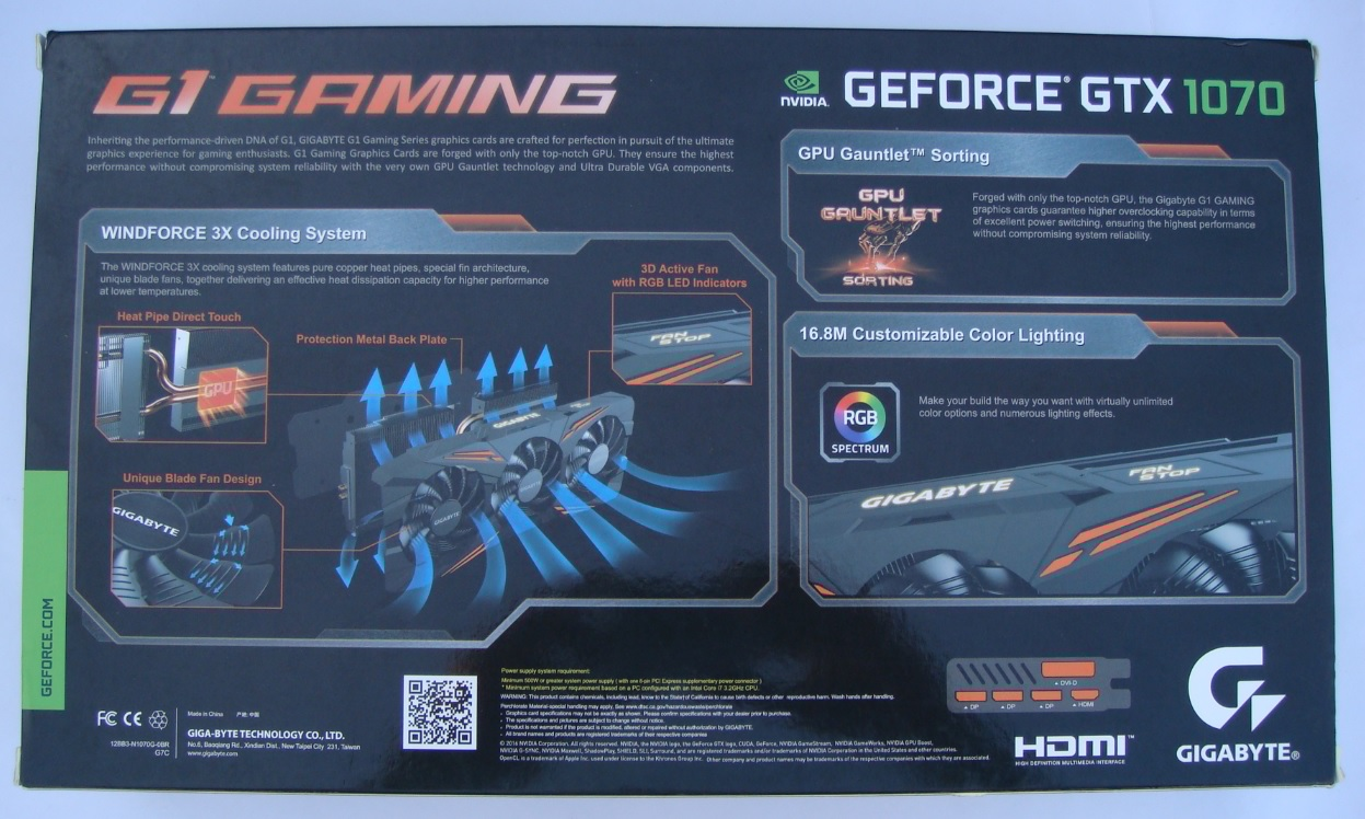 Gigabyte GeForce GTX 1070 G1 Gaming Review - PC TeK REVIEWS