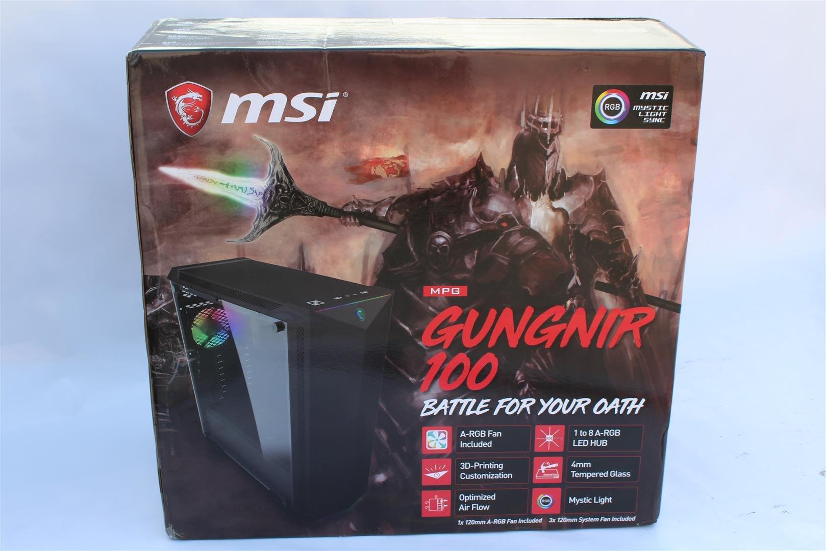MSI MPG GUNGNIR 100 Case Review - PC TeK REVIEWS
