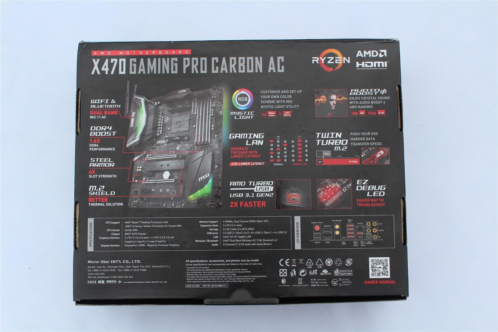 MSI X470 Gaming Pro Carbon AC Review - PC TeK REVIEWS