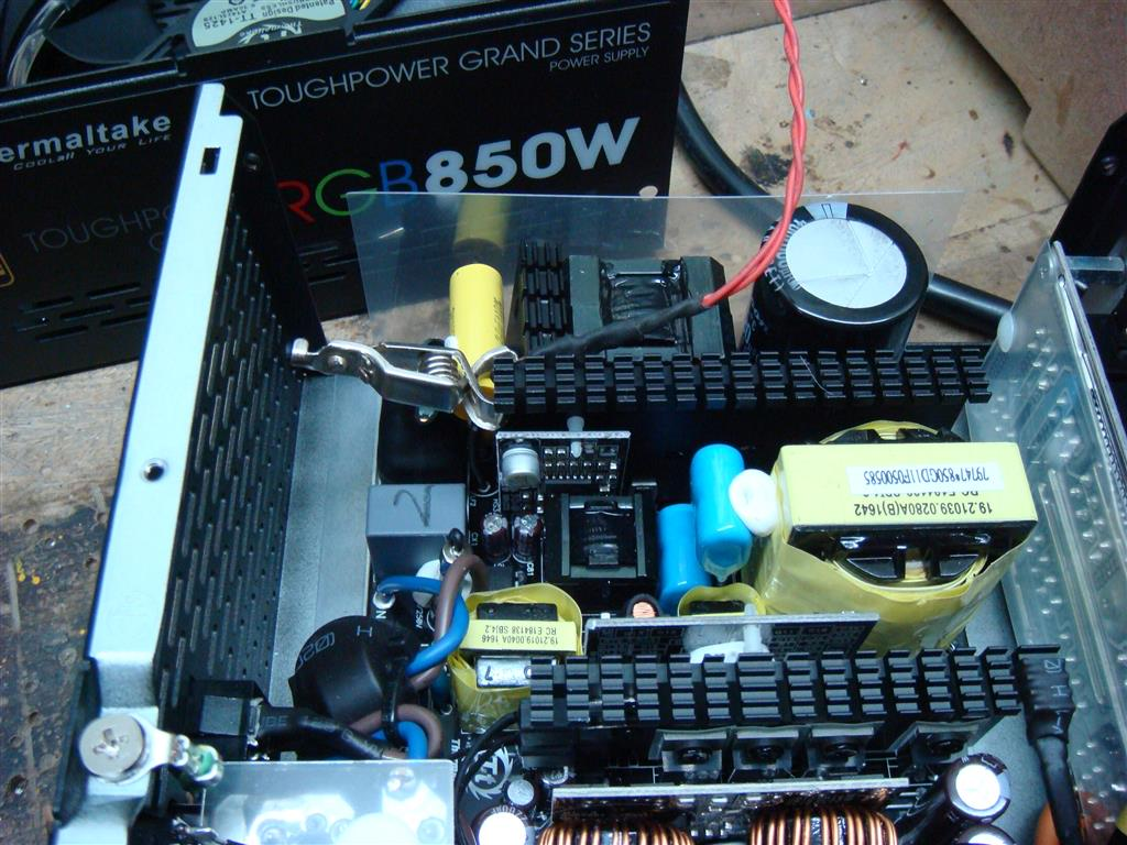 Thermaltake Rgb 850w Power Supply Review Pc Tek Reviews Schematic Furthermore Atx Diagram Before And After Every Test Psu Equipments Were Turned Off For Half An Hour 500w Of Load Is Applied To The Duration About 5 Minutes