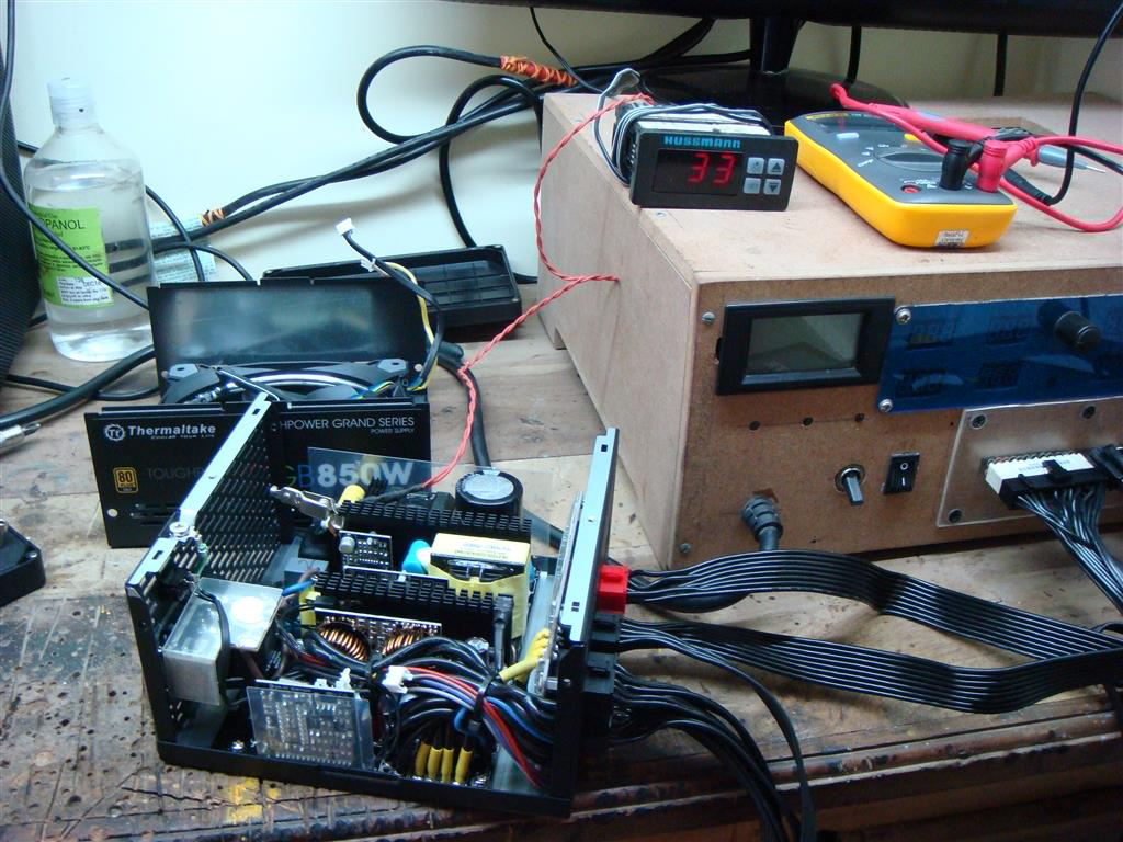 Before and after every test PSU and test equipments were turned OFF for half an hour. 500w of load is applied to the PSU for duration of about 5 minutes and ...